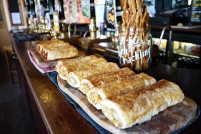 Sausage Rolls in Bristol at The Golden Guinea by those wonderful Feastie Boys