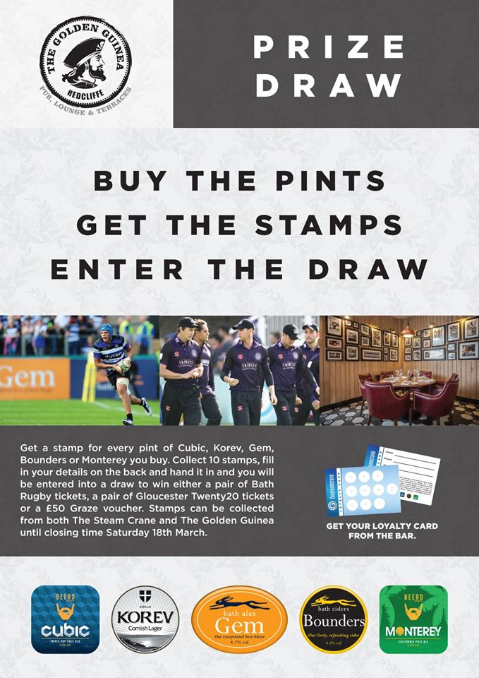 Check out our awesome competition and enjoy the Six Nations at the Guinea