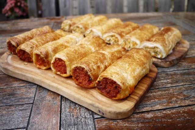 Sausage Rolls in Bristol | Feastie Boys at The Golden Guinea